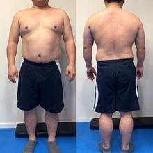 初の男性ダイエットモニター様=卒業報告=【既婚/中年太り/体重100㎏越/ウエスト104㎝】